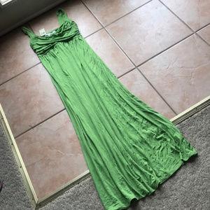 NWT Max Studio Stem Green Maxi Dress Size Medium